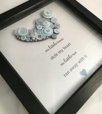 Baby Foot Buttoned Keepsake frame