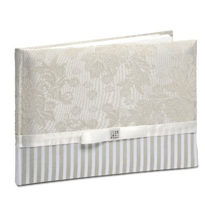 Floral fabric guest book