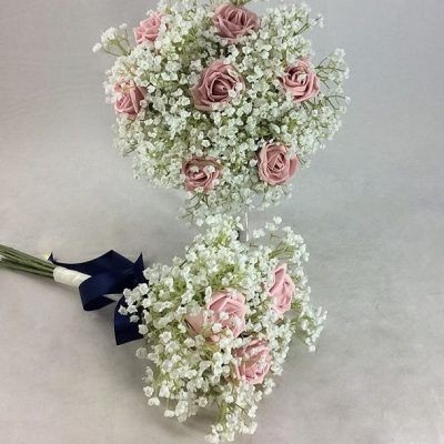 Gypsophila And Rose Bouquet