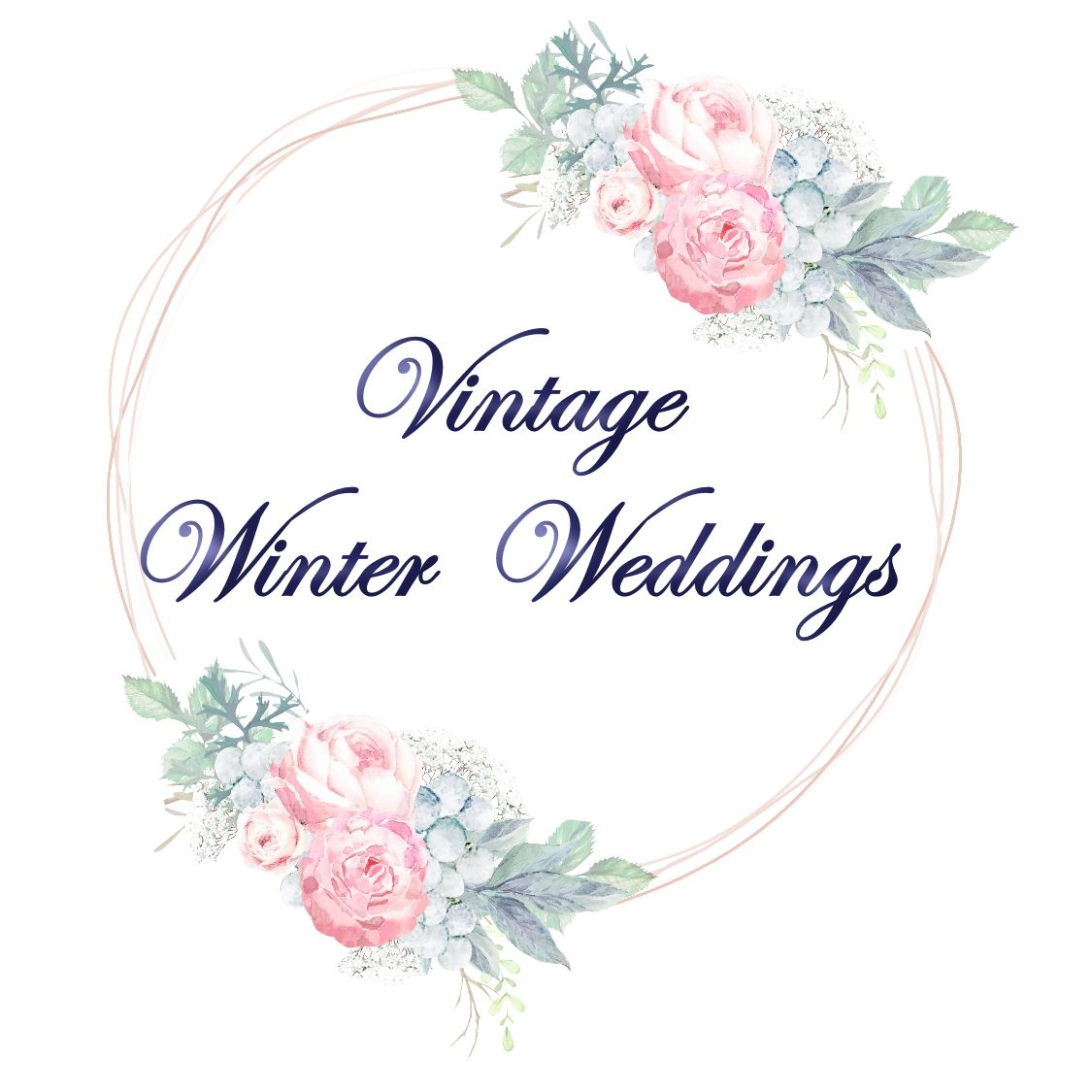 vintage winter weddings logo